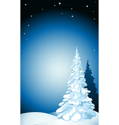 Winter background with snow stars and snowflakes vector