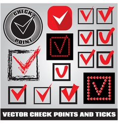 Set of check points and ticks vector