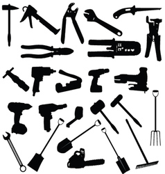 Tools silhouette vector