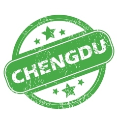 Chengdu green stamp vector