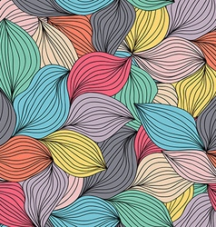 Seamless abstract wavy hand-drawn pattern endless vector
