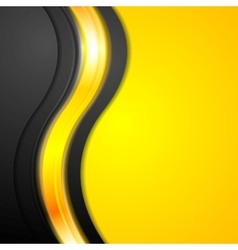 Shiny glowing yellow waves background vector