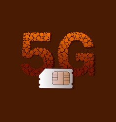 5g sim card vector