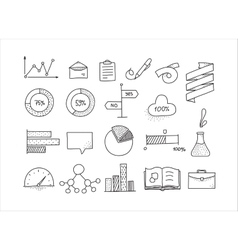 Hand drawn infographic design elements set doodle vector