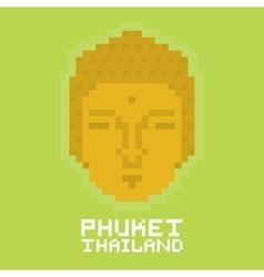 Phuket thailand pixel art card vector