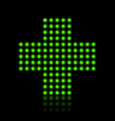 Light green cross vector