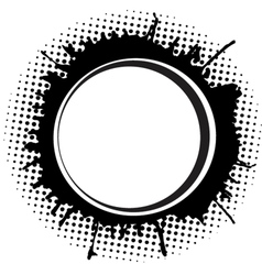 Abstract round frame with ink spots vector image vector image