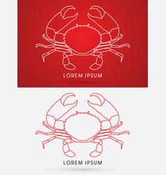 big crab and big pincers vector image