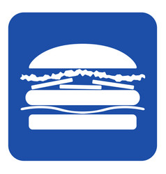 blue white information sign - hamburger icon vector image vector image