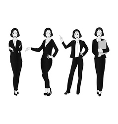 Business woman gray full body vector
