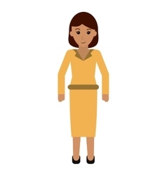 Business woman successful wearing clothes elegant vector