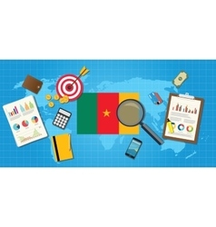 Cameroon africa economy economic condition country vector