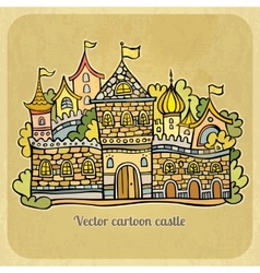 Cartoon fairy-tale castle vector