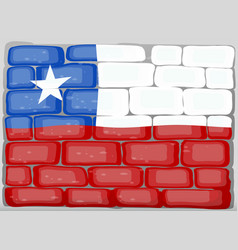 Chile flag on the wall vector