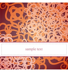 Classic card or invitation for birthday party vector image