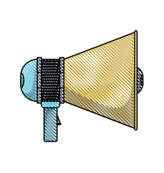 colored pencil silhouette of megaphone icon vector image vector image