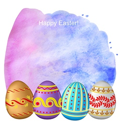 Easter watercolor back vector image