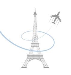 Eiffel tower on white vector