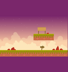 Game background with cloud scenery vector