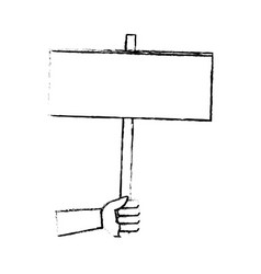 Hand holding empty placard elections time vector