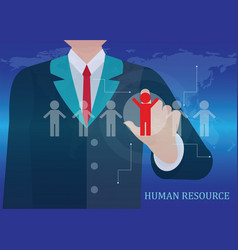 human resources business vector image vector image