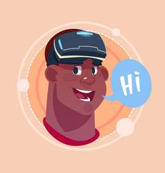 man hi african american male emoji wearing 3d vector image vector image