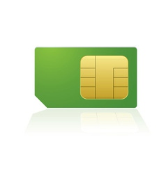 modern mobile or cell phone sim with reflection vector image vector image