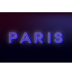 Neon Paris Neon Paris sign design for your vector image