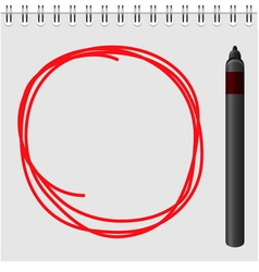 Notepad with red marker text box vector image