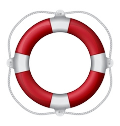 of marines red life buoy eps10 vector image