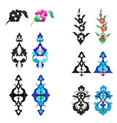 ottoman ornament version vector image vector image