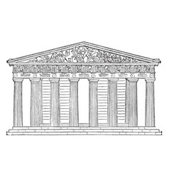 Parthenon restored highest part of the acropolis vector