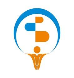 Pharma Logo Symbol vector image vector image