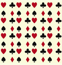 Poker cards casino gambling seamless pattern vector