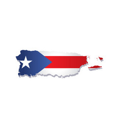 puerto rico flag amp map vector image