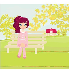 Sweet autumn girl - vector