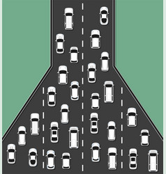 traffic jam concept top view vector image vector image