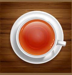 White tea cup vector