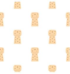 Wine wooden cork pattern flat vector