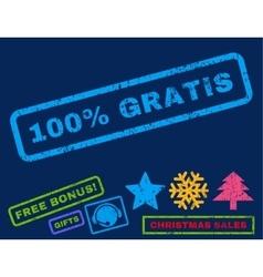 100 percent gratis rubber stamp vector