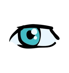 Eye look view human optical icon graphic vector