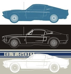 Shelby gt500 car vector