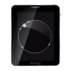 abstract tablet with glass framework vector image