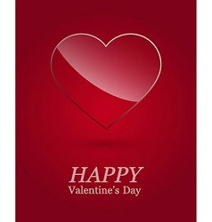 Valentine day luxury glass heart vector