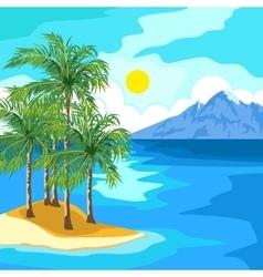 Idyllic sunny seascape vector