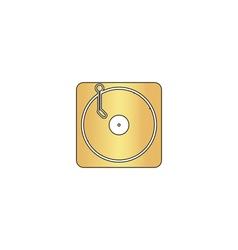 vinyl computer symbol vector image