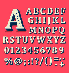 red and white font on black background the vector image