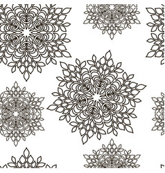 Pattern seamless abstract black line vector