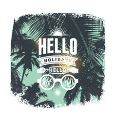 Summer holidays typographic grunge retro poster vector