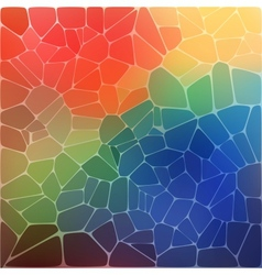 Colorful background with rainbow geometric mosaic vector